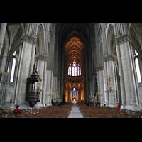Reims, Cathédrale Notre-Dame (Hauptorgel), Innenraum / Hauptschiff in Richtung Chor
