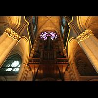 Reims, Cathédrale Notre-Dame (Hauptorgel), Orgelempore