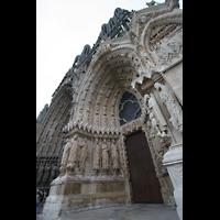 Reims, Cathédrale Notre-Dame (Hauptorgel), Fassade perspektivisch