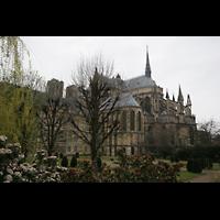 Reims, Cathédrale Notre-Dame (Hauptorgel), Außenansicht schräg vom Chor aus