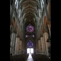 Reims, Cathédrale Notre-Dame (Hauptorgel), Innenraum / Hauptschiff in Richtung Portal