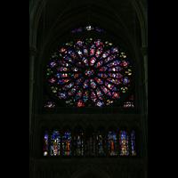 Reims, Cathédrale Notre-Dame (Hauptorgel), Fensterrosette der Fassade
