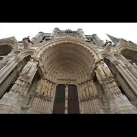 Chartres, Cathédrale Notre-Dame, Seitenportal mit Tympanon und Figurenschmuck