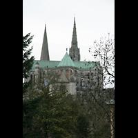 Chartres, Cathédrale Notre-Dame, Ansicht von der Stadt aus