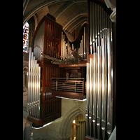 Lausanne, Cathédrale, Große Orgel vom Seitenschiff aus