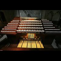Lausanne, Cathédrale, Mobiler Spieltisch unten