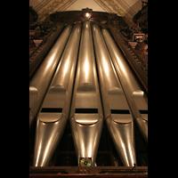 Luzern, Hofkirche St. Leodegar (Große Orgel mit Echowerk), Pedalturm mit offenem Prinzipal 32'