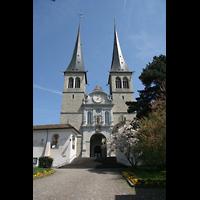 Luzern, Hofkirche St. Leodegar (Große Orgel mit Echowerk), Fassade