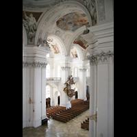 Weingarten, Basilika St. Martin - Große Orgel, Chorraum von oben