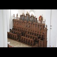 Weingarten, Basilika St. Martin - Große Orgel, Chororgel von oben