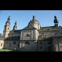 Fulda, Dom St. Salvator (Hochchororgel), Gesamtansicht von der Seite