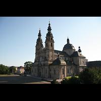 Fulda, Dom St. Salvator (Hochchororgel), Gesamtansicht vom Michaelsberg aus