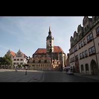 Naumburg, Stadtkirche St. Wenzel, Marktplatz mit Wenzelskirche