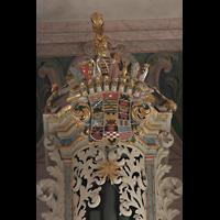 Naumburg, Stadtkirche St. Wenzel, Wappen auf dem Pedalturm