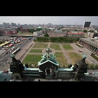 Berlin (Mitte), Dom, Tauf- und Traukapelle, Blick vom Kuppelumgang auf den Lustgarten