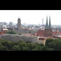 Berlin (Mitte), Museum Nikolaikirche, Blick von der Dompuppel auf die Nikolaikirche