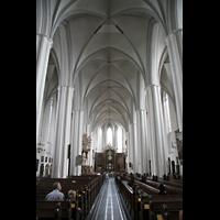 Berlin (Mitte), St. Marienkirche, Innenraum / Hauptschiff in Richtung Chor