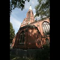 Berlin (Schöneberg), Apostel-Paulus-Kirche, Seitenansicht mit Turm