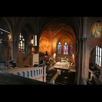 Berlin (Schöneberg), Apostel-Paulus-Kirche, Blick von der Orgelempore in die Kirche