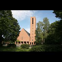 Berlin (Zehlendorf), Jesus-Christus-Kirche Dahlem, Gesamtansicht