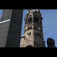 Berlin (Charlottenburg), Kaiser-Wilhelm-Gedächtnis-Kirche, Alter und neuer Turm