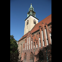 Berlin (Mitte), St. Marienkirche, Querhaus mit Turm