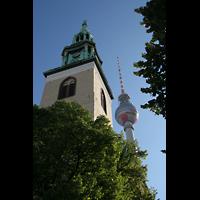 Berlin (Mitte), St. Marienkirche, Marienkirchen- und Fernsehturm