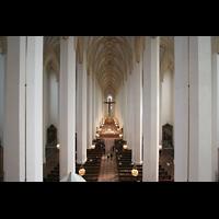 München, Liebfrauendom (Hauptorgelanlage), Innenraum von der Orgelempore aus