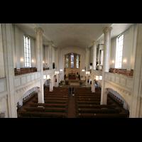 München, St. Markus (Ott-Orgel), Blick von der Orgelempore in die Kirche