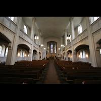 München, St. Markus (Ott-Orgel), Innenraum / Hauptschiff in Richtung Chor