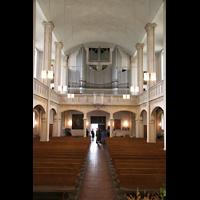 München, St. Markus (Ott-Orgel), Innenraum / Hauptschiff in Richtung Orgel