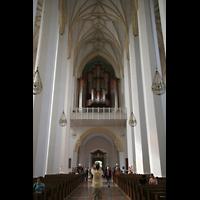 München, Liebfrauendom (Hauptorgelanlage), Blick zur großen Orgel