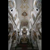 München, Alt St. Peter (Hauptorgel), Chor und Deckengewölbe