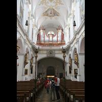 München, Alt St. Peter (Hauptorgel), Orgelempore