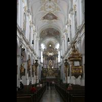 München, Alt St. Peter (Hauptorgel), Innenraum / Hauptschiff in Richtung Chor