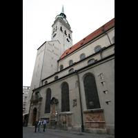 München, Alt St. Peter (Hauptorgel), Seitenansicht