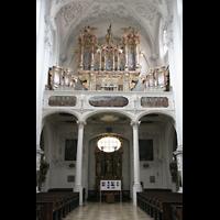 Landsberg, Stadtpfarrkirche Mariä-Himmelfahrt, Orgelempore