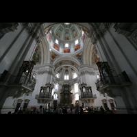 Salzburg, Dom (Hauptorgel), Die vier Orgeln an den Vierungspfeilern