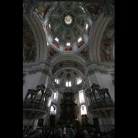 Salzburg, Dom (Hauptorgel), Vierungskuppel mit nördlichen Pfeilerorgeln