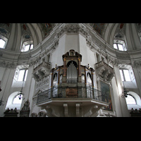 Salzburg, Dom (Hauptorgel), Südliche Epistelorgel mit Chor und Querhaus