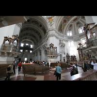 Salzburg, Dom (Hauptorgel), Hauptschiff und Querhaus mit Orgeln