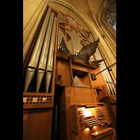 Linz, Maria-Empfängnis-Dom (Hauptorgel), Große Orgel mit Spieltisch