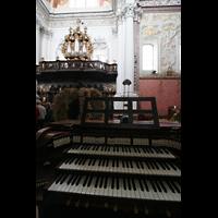 St. Florian (bei Linz), Stiftskirche, Chororgel mit Spieltisch