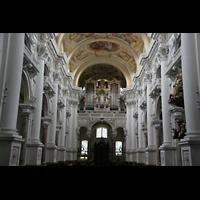 St. Florian (bei Linz), Stiftskirche, Hauptschiff mit großer Orgel