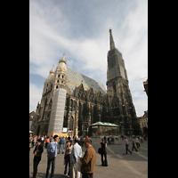 Wien (Vienna), Stephansdom (Orgelanlage), Stephansplatz mit Dom