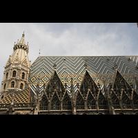 Wien (Vienna), Stephansdom (Orgelanlage), Dach des Hauptschiffs