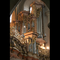 Wien, Michaelerkirche (ehem. Hofpfarrkirche St. Michael), Orgelprospekt - Detail