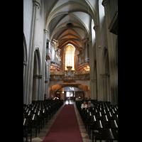 Wien, Michaelerkirche (ehem. Hofpfarrkirche St. Michael), Innenraum / Hauptschiff in Richtung Orgel