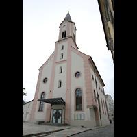 Passau, St. Gertraud, Fassade mit Turm