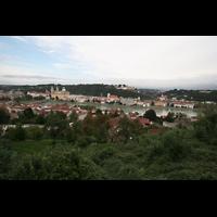Passau, Dom St. Stephan, Blick vom Hügel der Marahilf-Kirche auf die Altstadt mit Dom